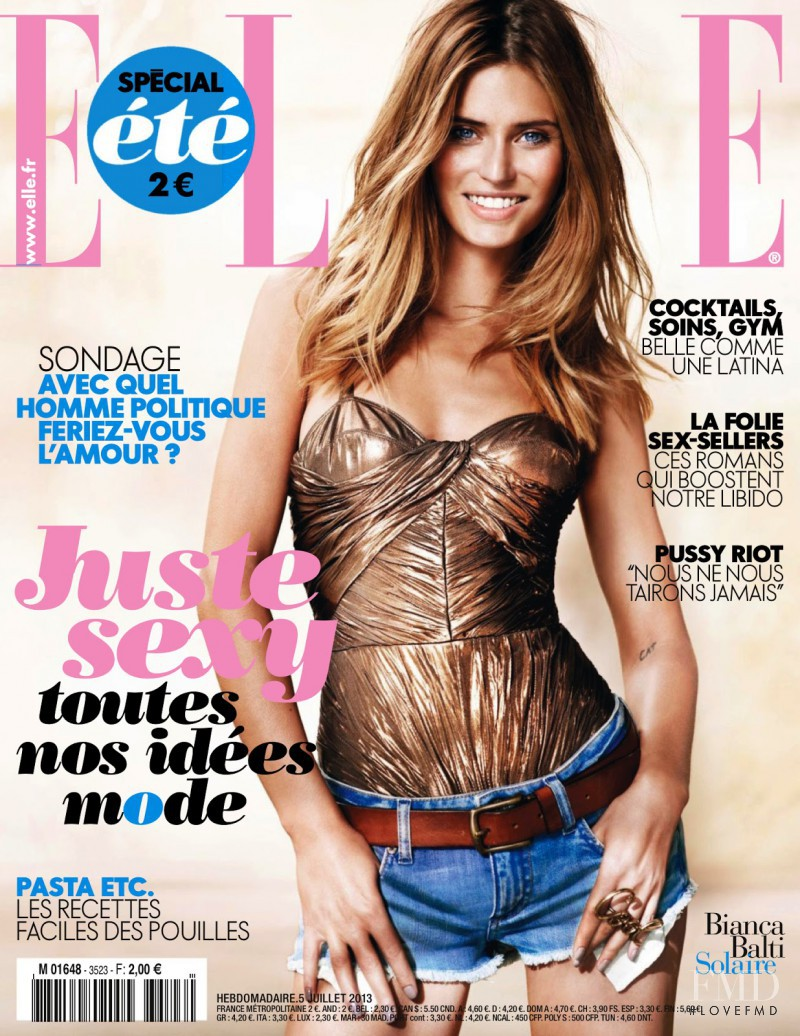 Bianca Balti featured on the Elle France cover from July 2013