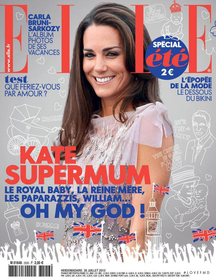 Kate Middleton featured on the Elle France cover from July 2013