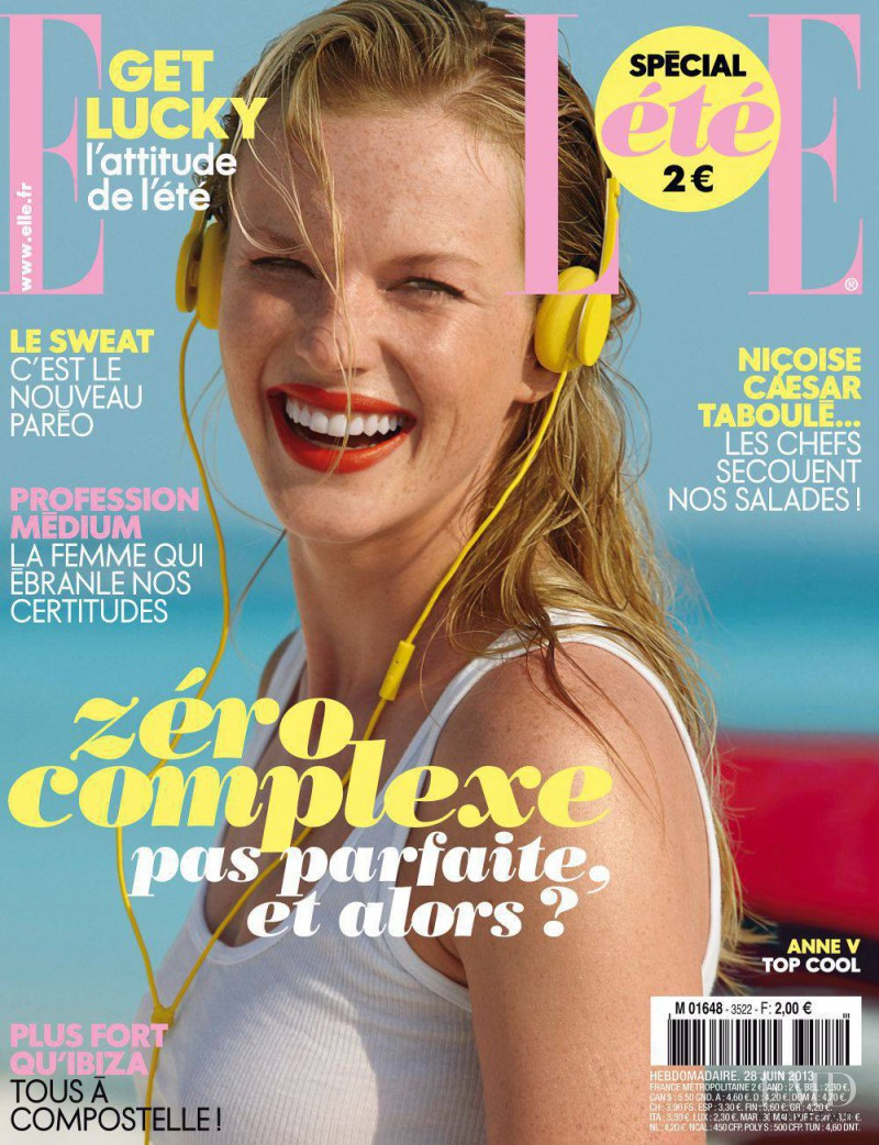 Anne Vyalitsyna featured on the Elle France cover from June 2013