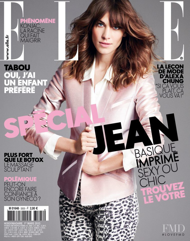 Alexa Chung featured on the Elle France cover from March 2013