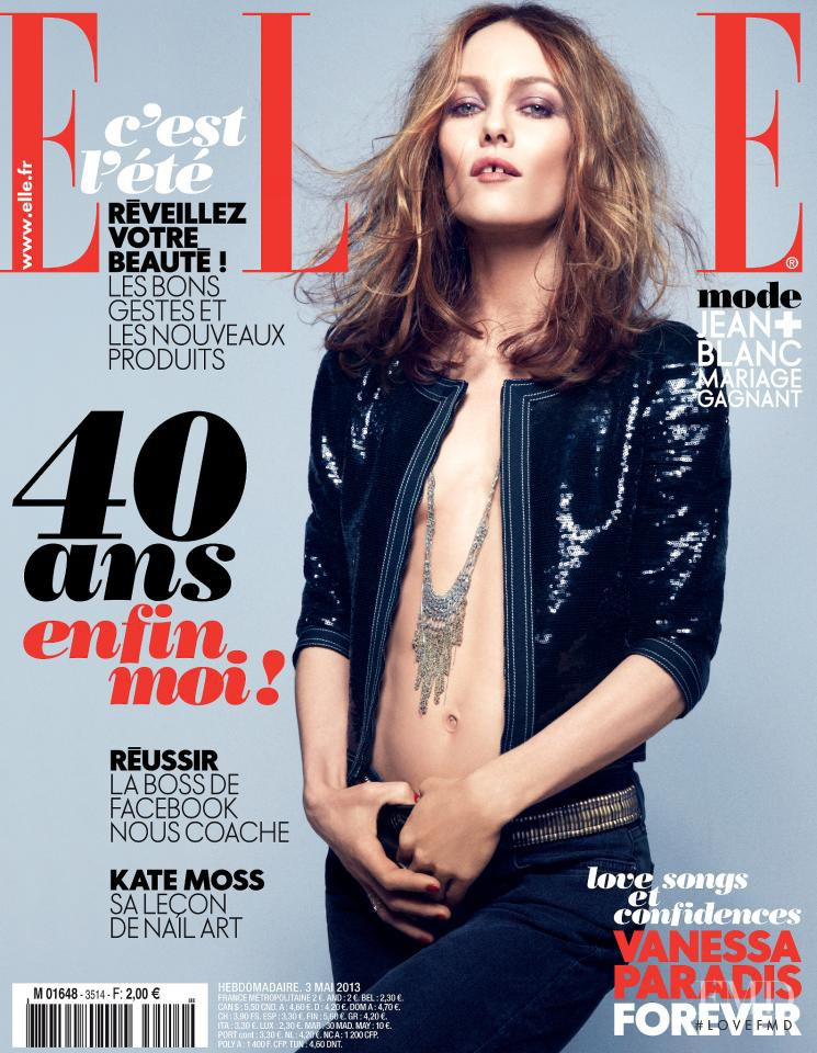 Vanessa Paradis featured on the Elle France cover from May 2013