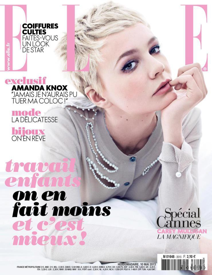 Carey Mulligan featured on the Elle France cover from May 2013