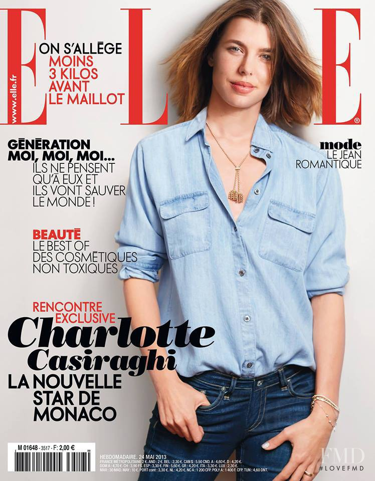 Charlotte Casiraghi featured on the Elle France cover from May 2013