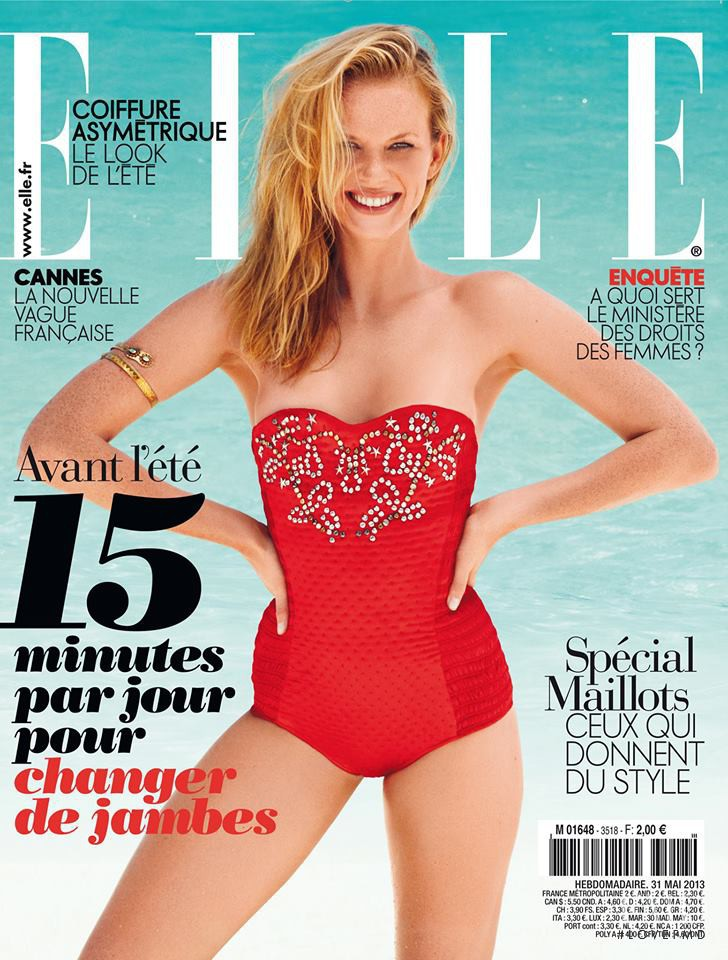 Anne Vyalitsyna featured on the Elle France cover from May 2013