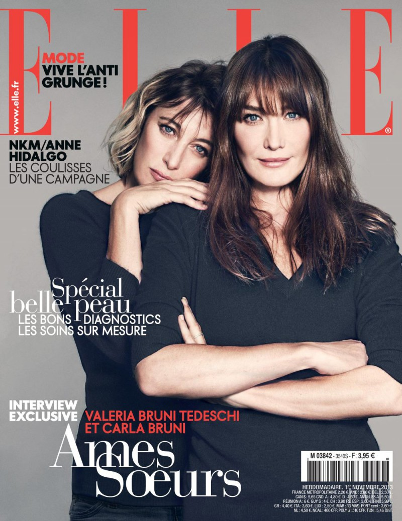 Valeria Bruni Tedeschi featured on the Elle France cover from November 2013