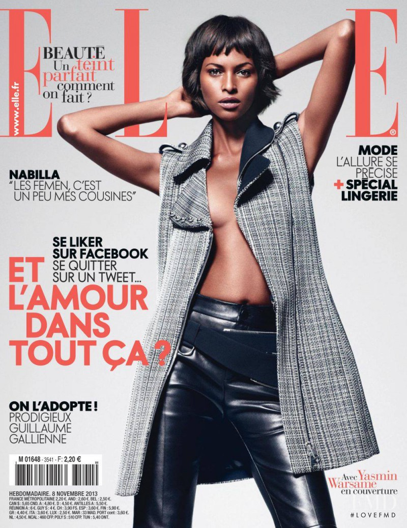 Yasmin Warsame featured on the Elle France cover from November 2013