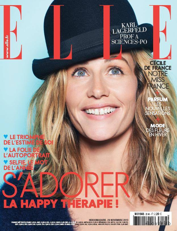 Cécile de France featured on the Elle France cover from November 2013