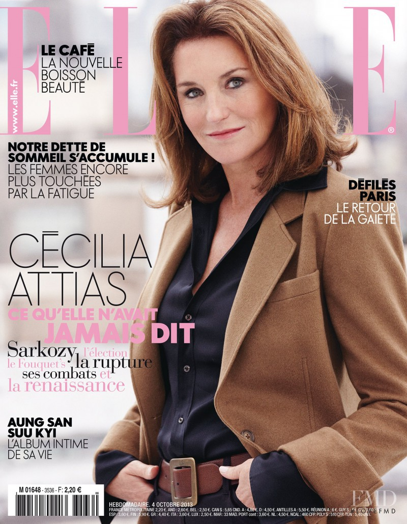 Cecilia Attias featured on the Elle France cover from October 2013