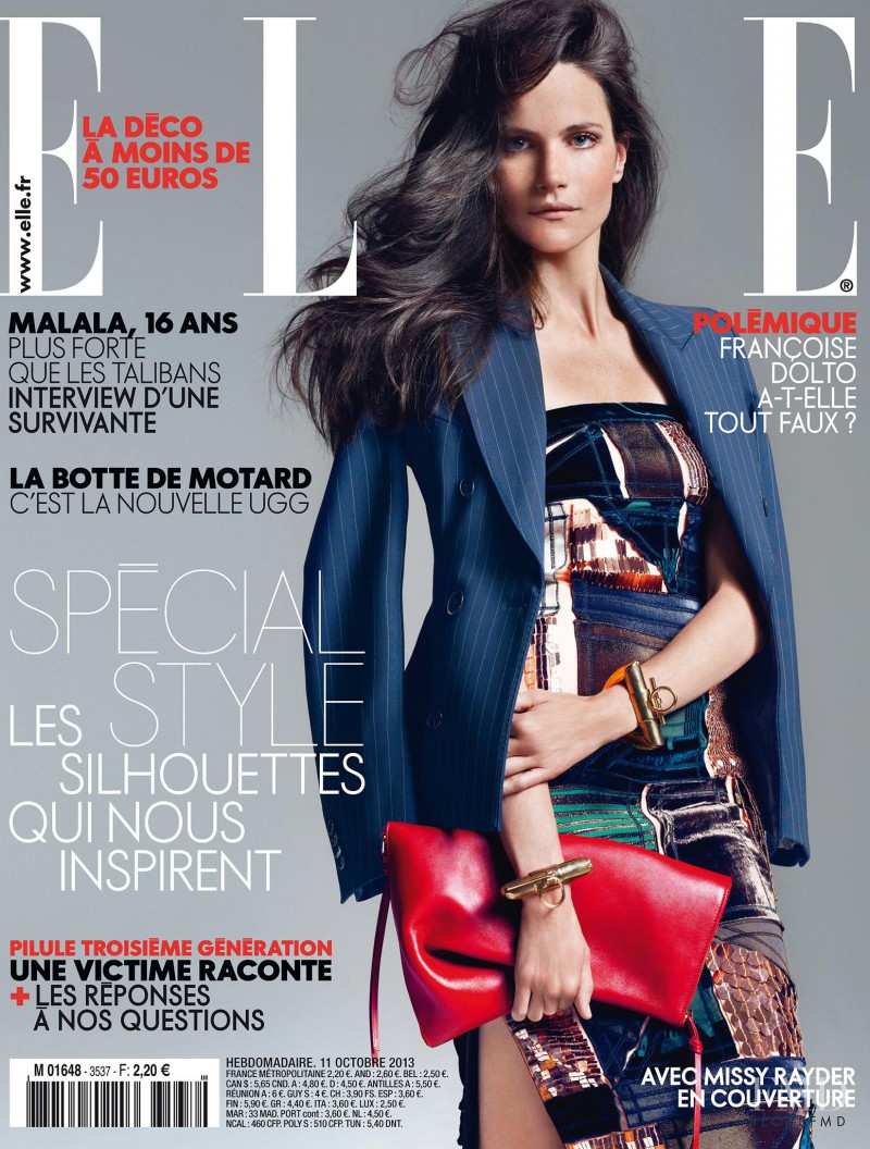Missy Rayder featured on the Elle France cover from October 2013