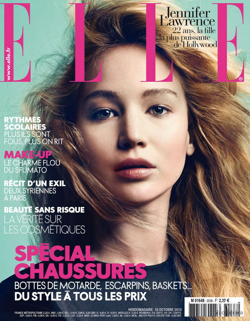 Jennifer Lawrence featured on the Elle France cover from October 2013