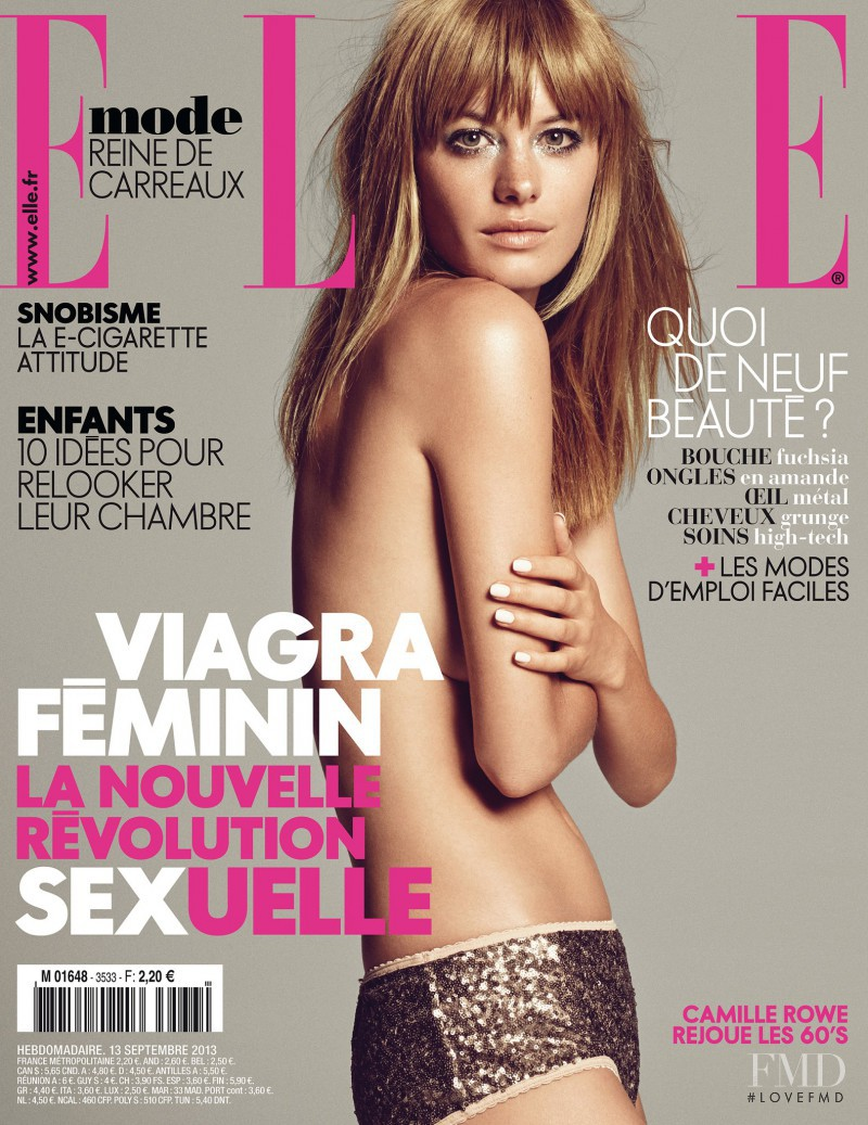 Camille Rowe featured on the Elle France cover from September 2013