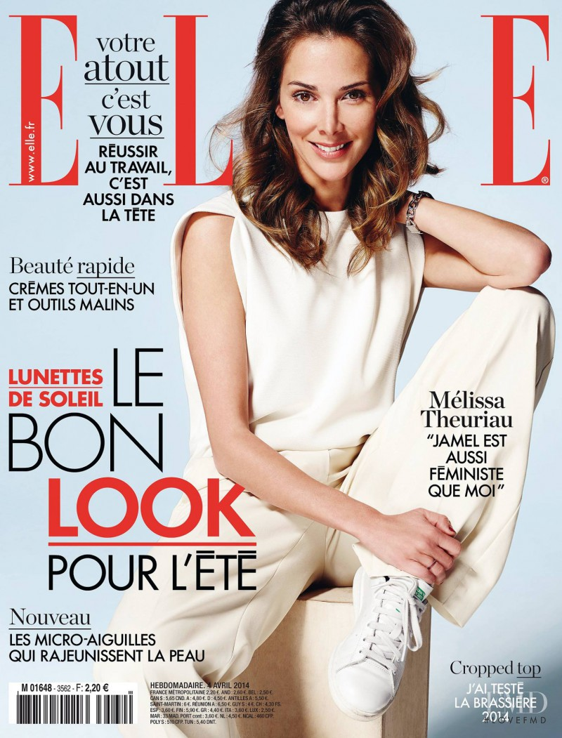 Melissa Theuriau featured on the Elle France cover from April 2014