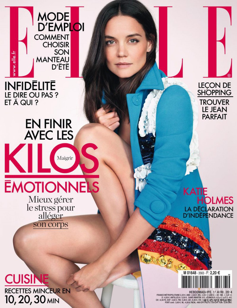 Katie Holmes featured on the Elle France cover from April 2014