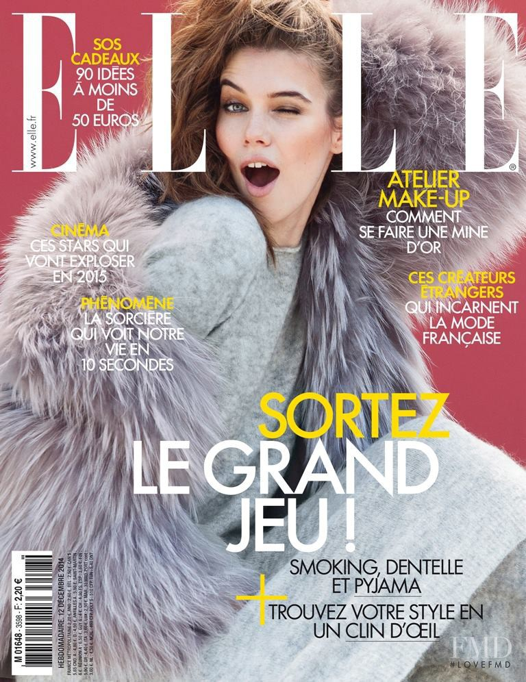 Iulia Carstea featured on the Elle France cover from December 2014