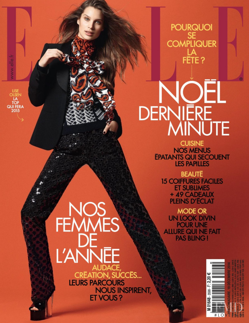 Lise Olsen featured on the Elle France cover from December 2014