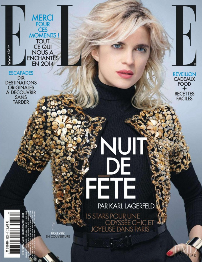 HollySiz featured on the Elle France cover from December 2014