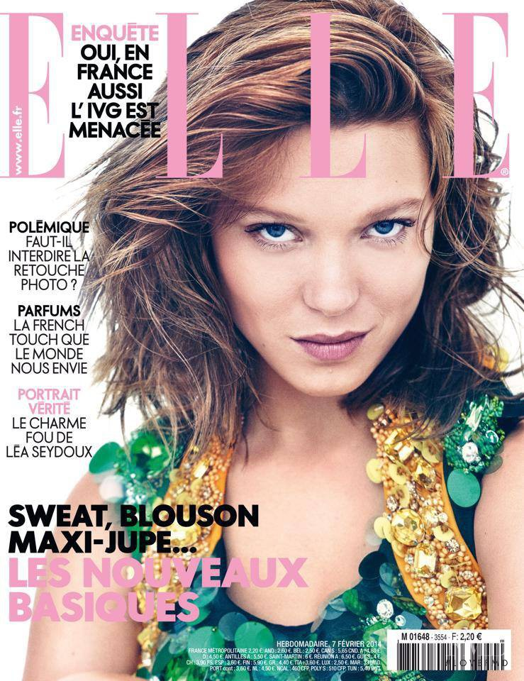 Lea Seydoux featured on the Elle France cover from February 2014
