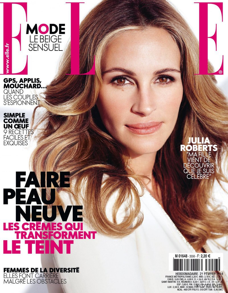 Julia Roberts featured on the Elle France cover from February 2014