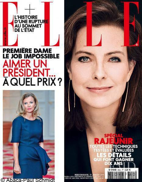 Carole Bouquet featured on the Elle France cover from January 2014