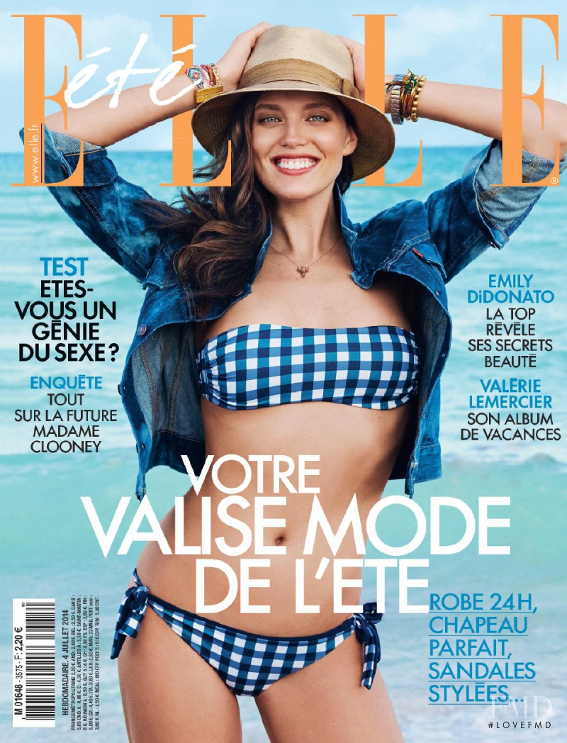 Emily DiDonato featured on the Elle France cover from July 2014