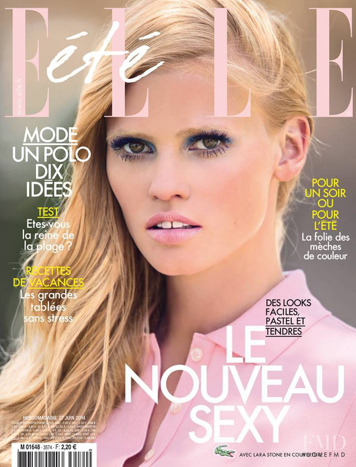 Lara Stone featured on the Elle France cover from June 2014