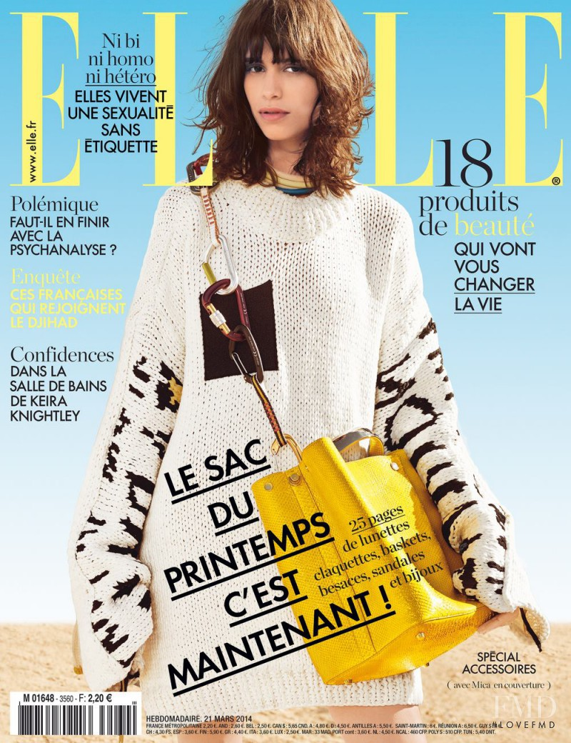 featured on the Elle France cover from March 2014