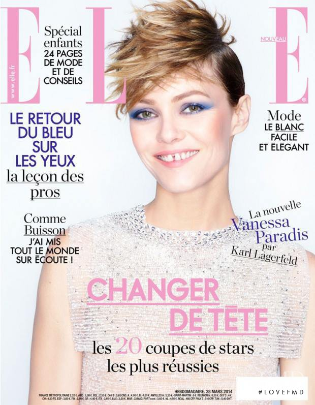Vanessa Paradis featured on the Elle France cover from March 2014