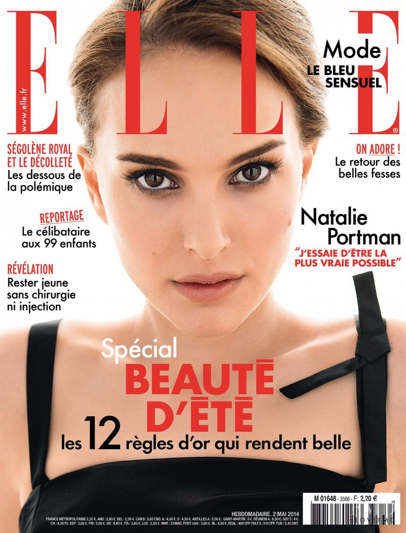 Natalie Portman featured on the Elle France cover from May 2014