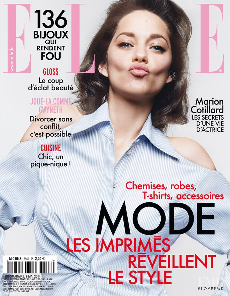Marion Cotillard featured on the Elle France cover from May 2014