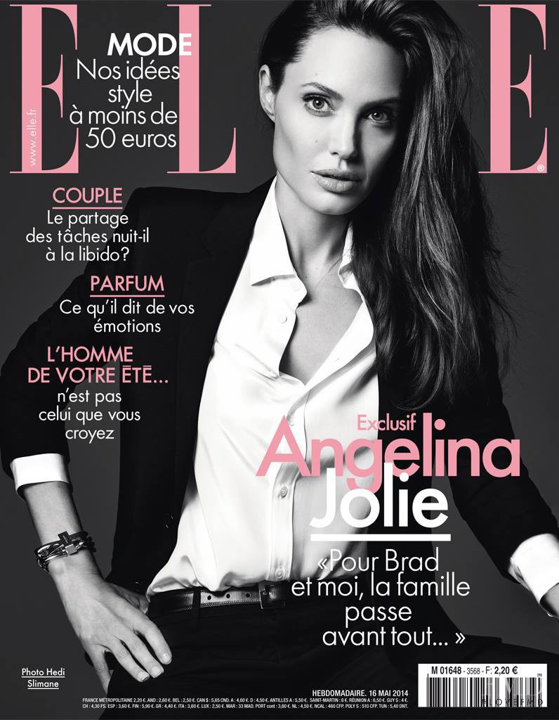 Angelina Jolie featured on the Elle France cover from May 2014