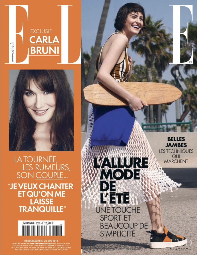 Athena Wilson featured on the Elle France cover from May 2014
