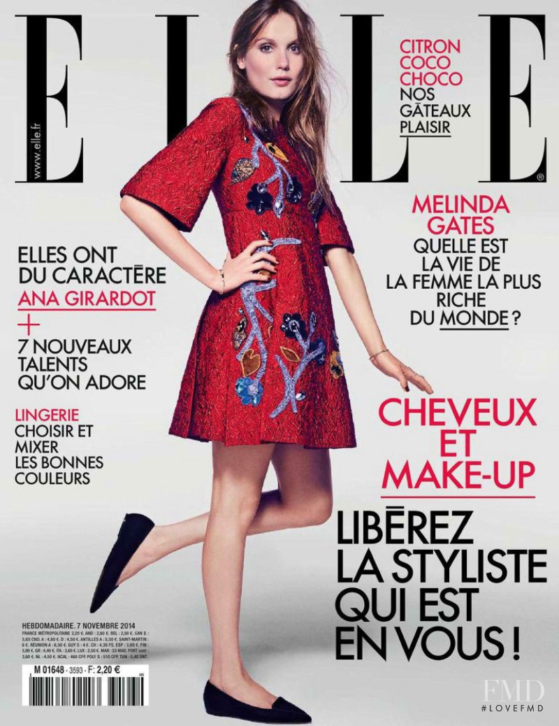 Ana Girardot featured on the Elle France cover from November 2014