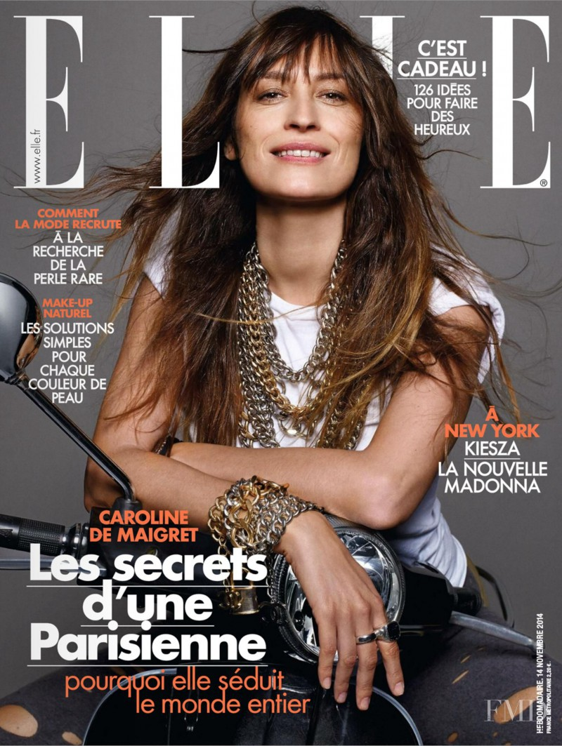 Caroline de Maigret featured on the Elle France cover from November 2014