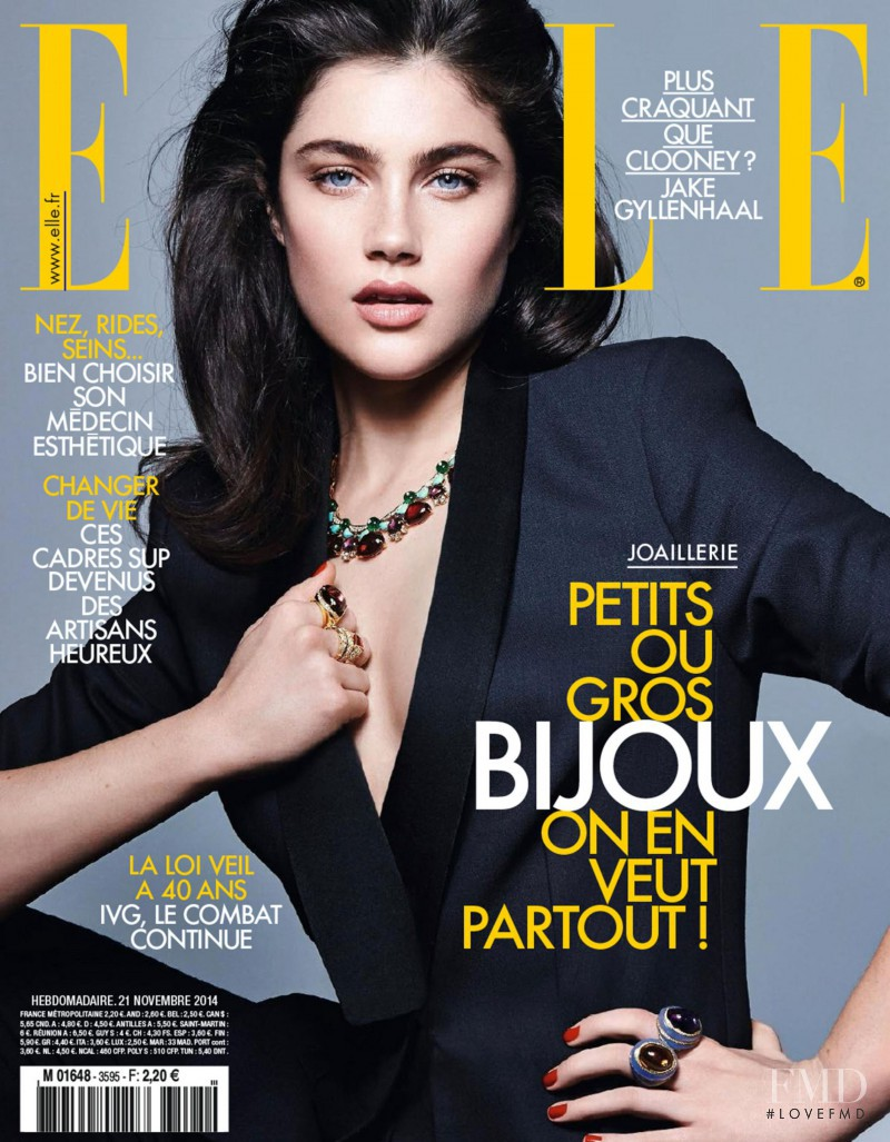 Anna Speckhart featured on the Elle France cover from November 2014