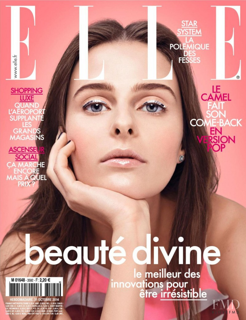 Vasilisa Pavlova featured on the Elle France cover from October 2014