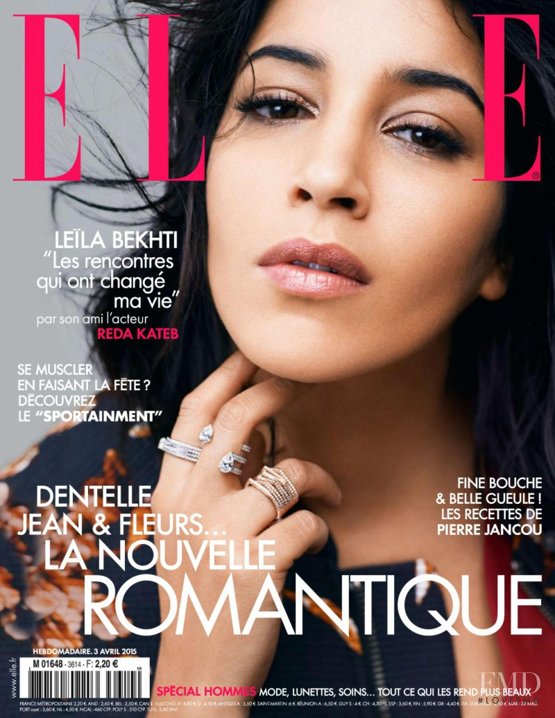 Leïla Bekhti  featured on the Elle France cover from April 2015