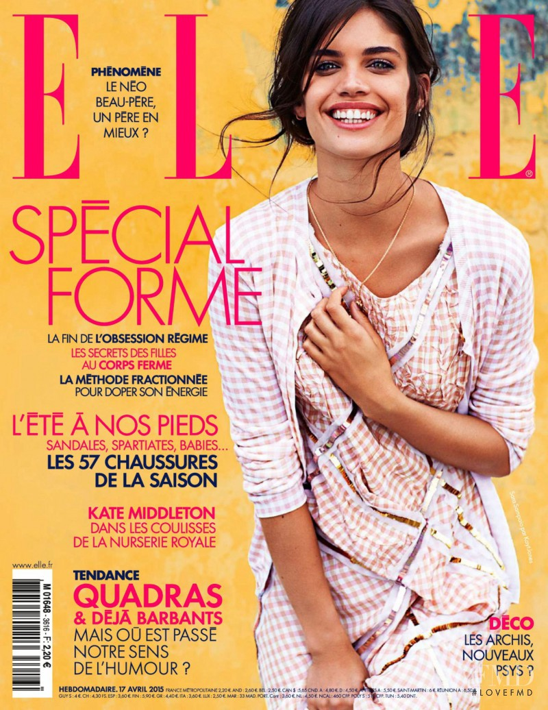 Sara Sampaio featured on the Elle France cover from April 2015