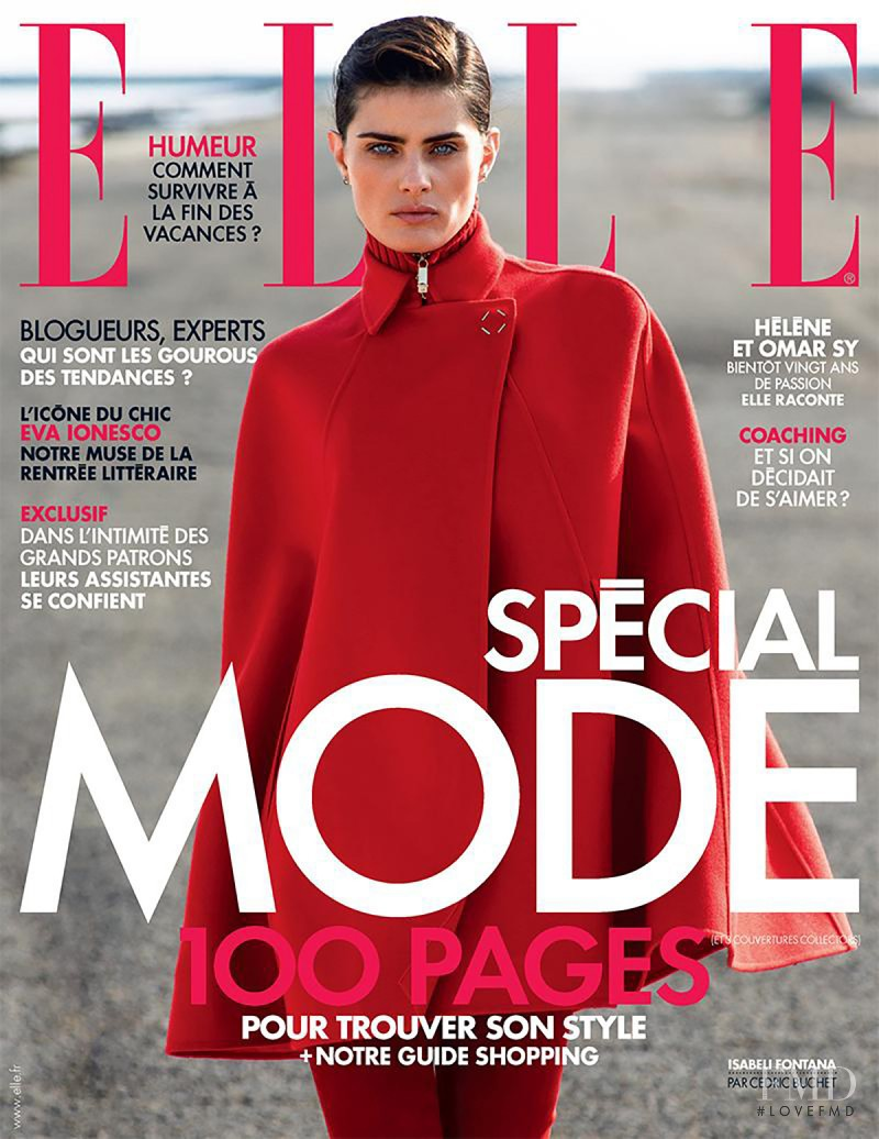 Isabeli Fontana featured on the Elle France cover from August 2015