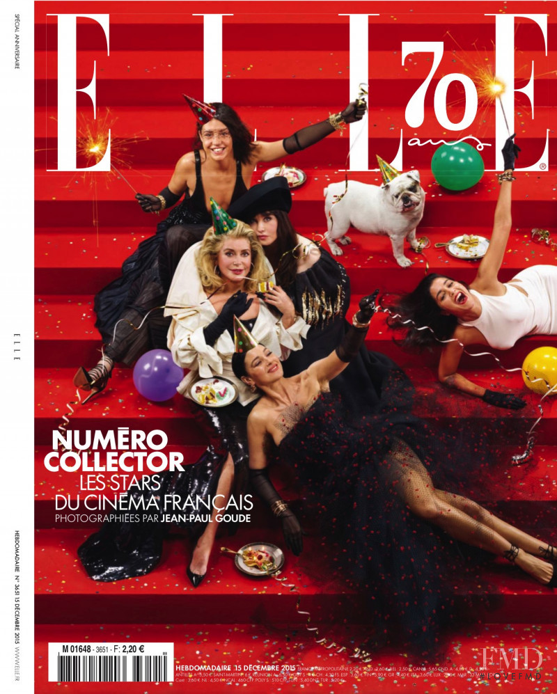Monica Bellucci, Marine Vacth featured on the Elle France cover from December 2015