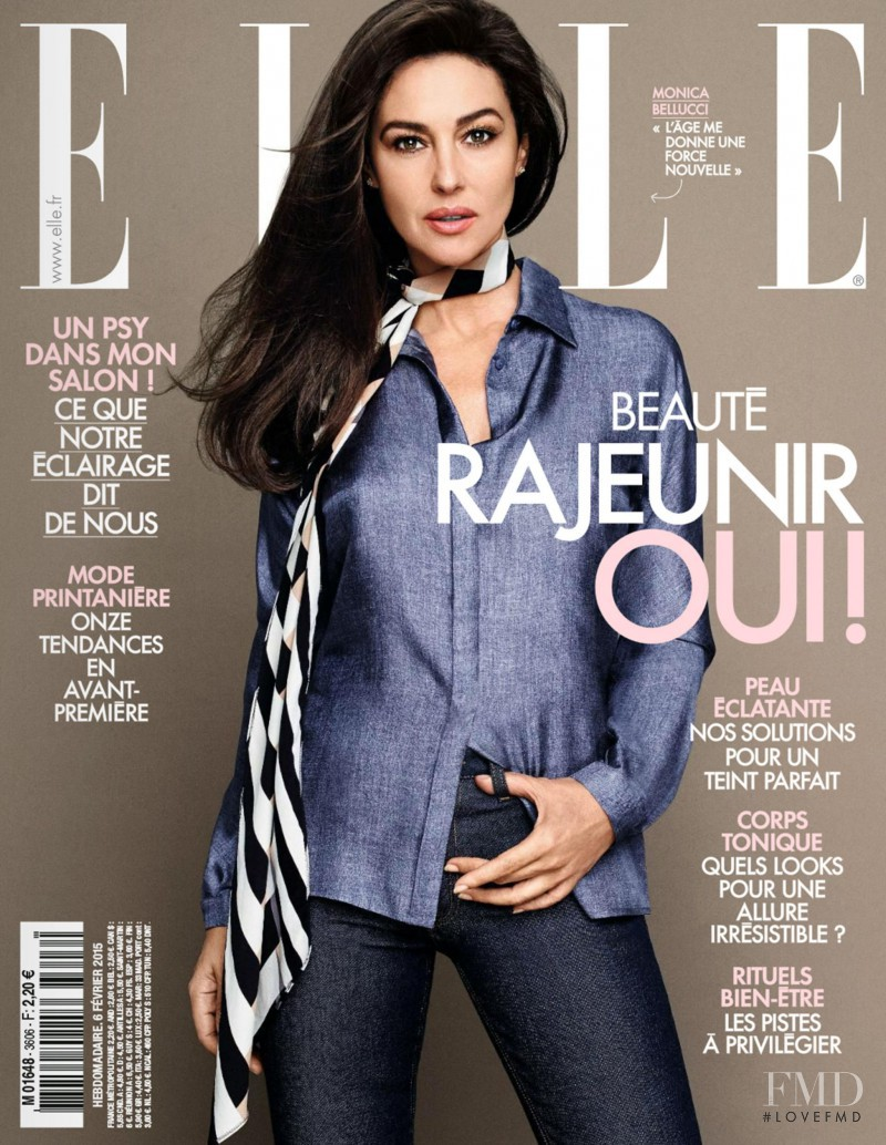 Monica Bellucci featured on the Elle France cover from February 2015