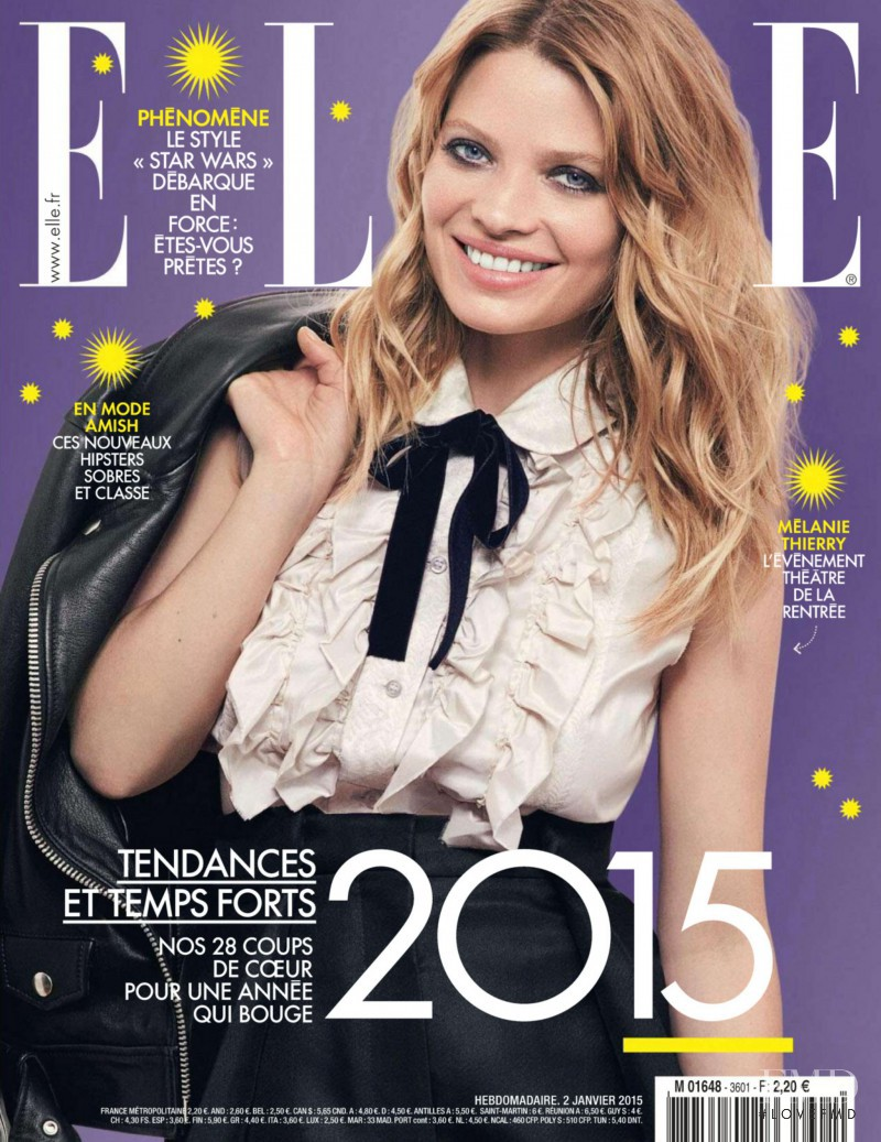 Melanie Thierry featured on the Elle France cover from January 2015