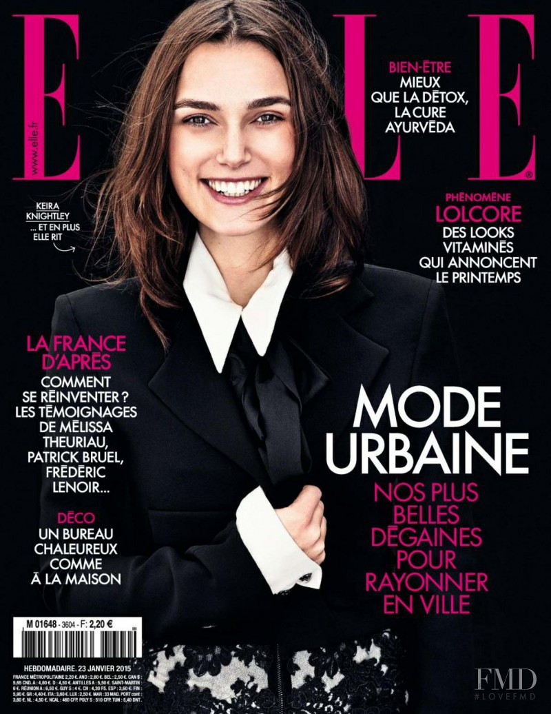 Keira Knightley featured on the Elle France cover from January 2015