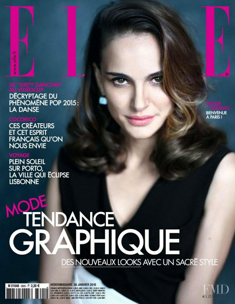 featured on the Elle France cover from January 2015