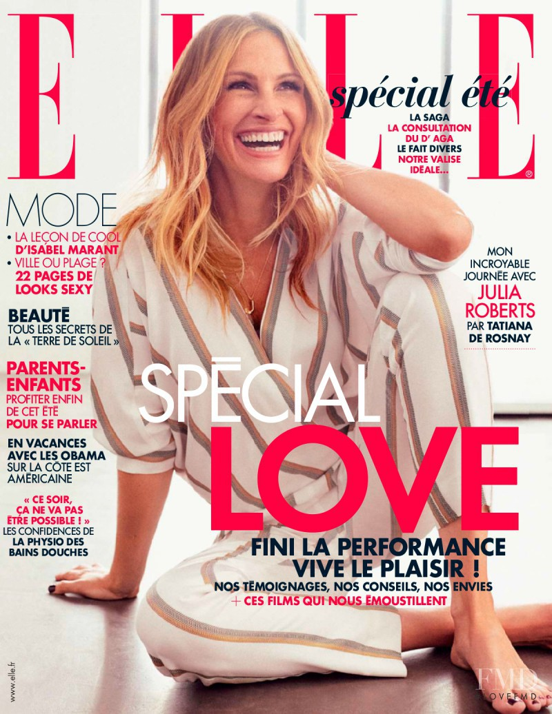 Julia Roberts featured on the Elle France cover from July 2015
