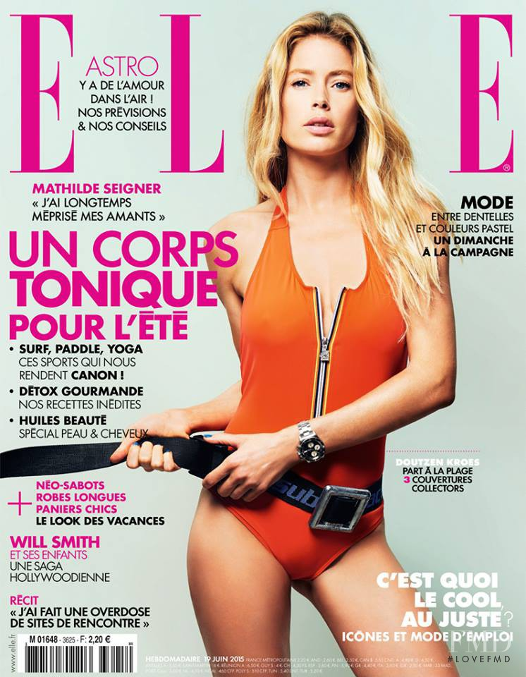Doutzen Kroes featured on the Elle France cover from June 2015