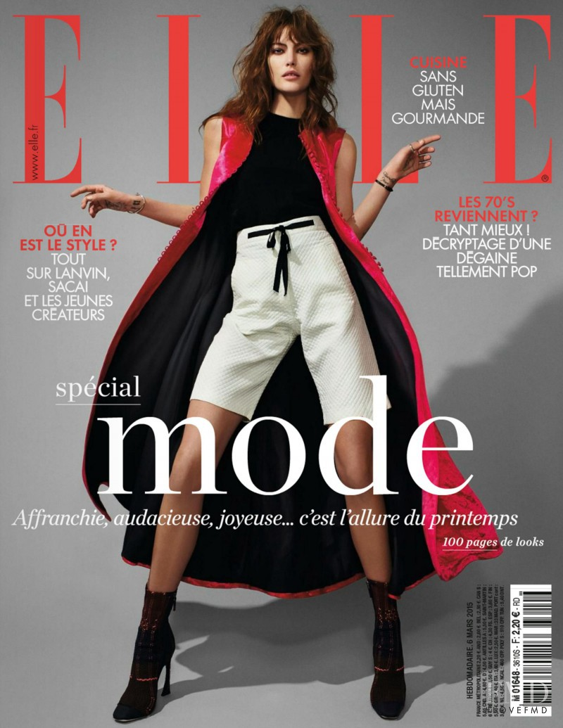 Catherine McNeil featured on the Elle France cover from March 2015