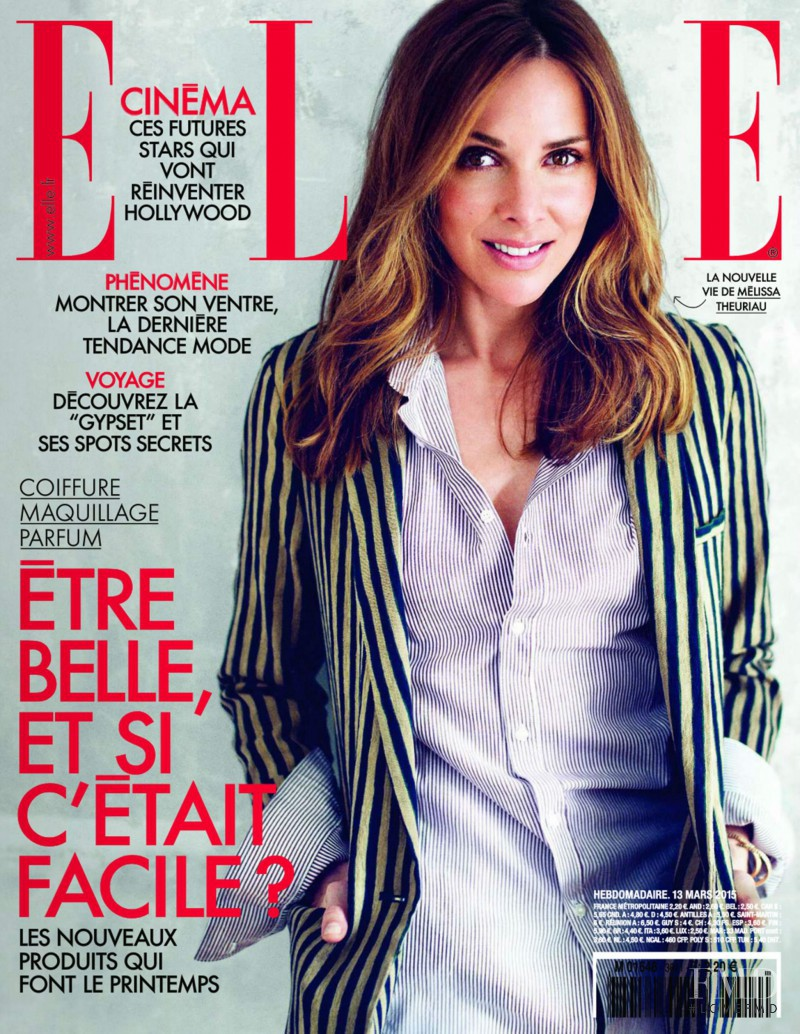 Mélissa Theuriau featured on the Elle France cover from March 2015