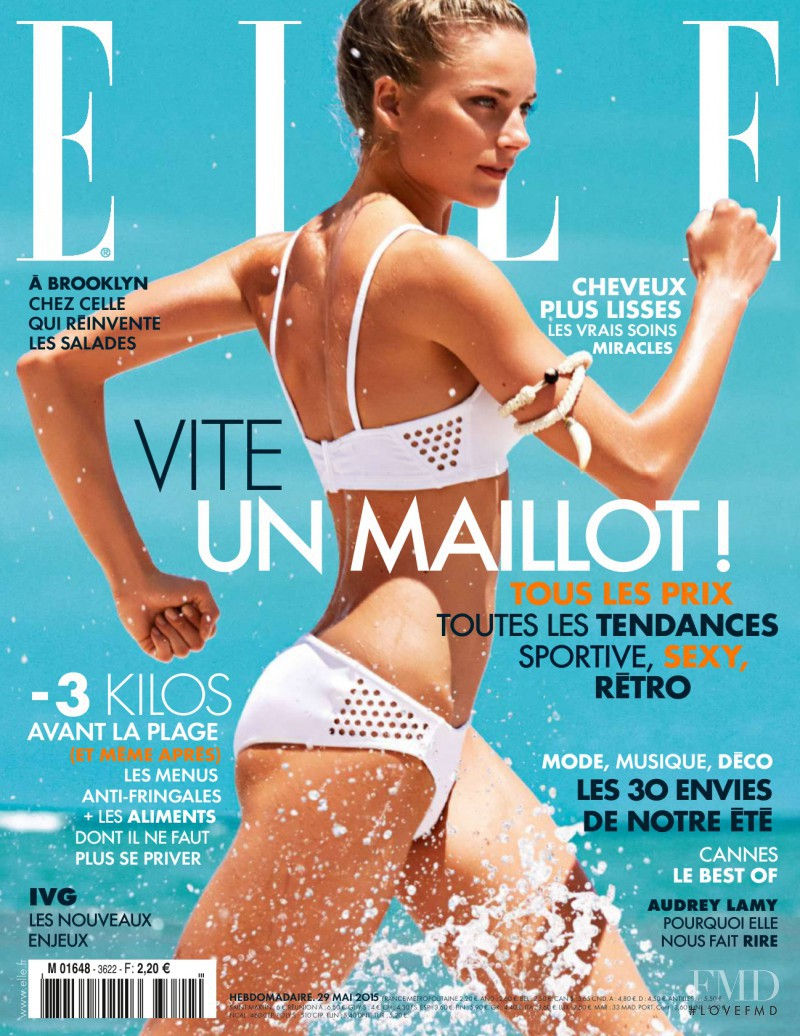 Ieva Laguna featured on the Elle France cover from May 2015