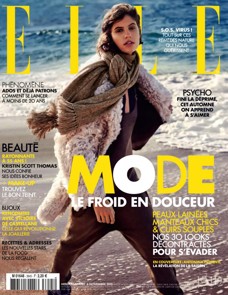 Antonina Petkovic featured on the Elle France cover from November 2015