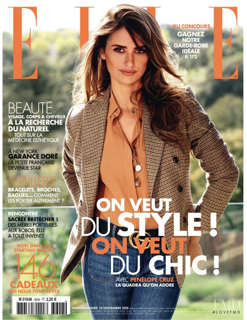 Selma Hayek featured on the Elle France cover from November 2015